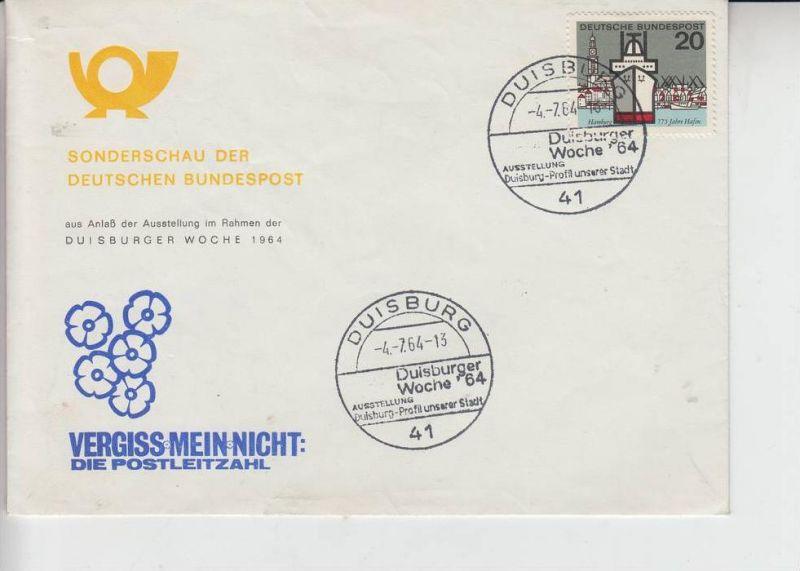 4100 DUISBURG, POSTGESCHICHTE - Duisburger Woche 1964 0