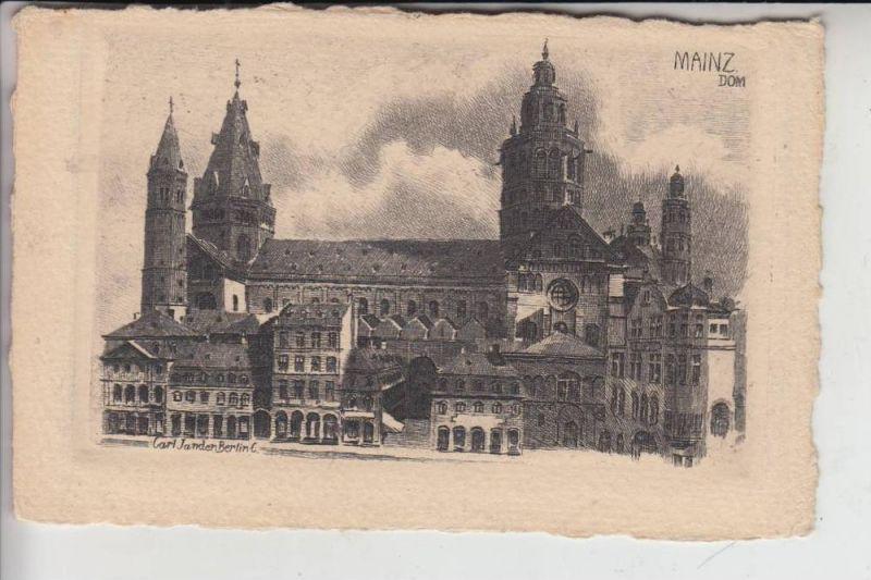 6500 MAINZ, Dom, Künstler-Karte Jander-Berlin 0