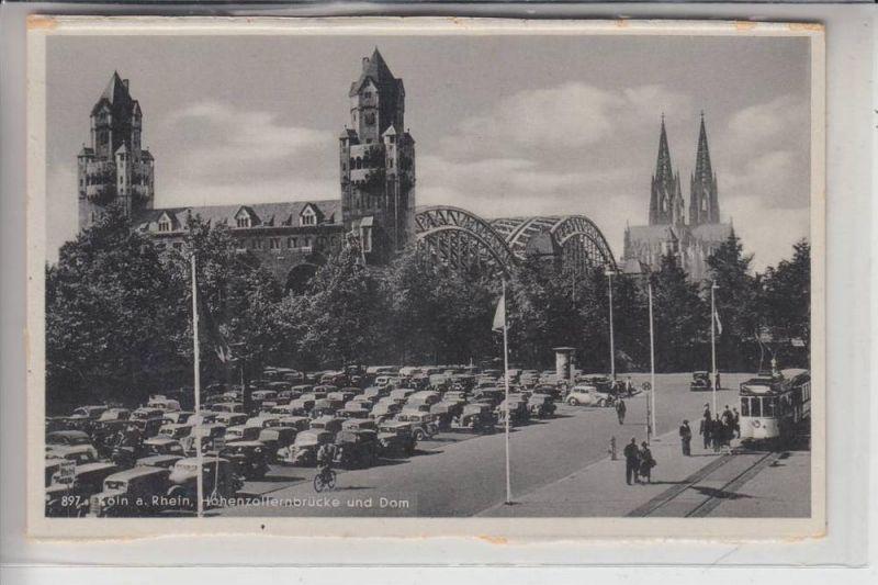 5000 KÖLN - DEUTZ, Hohenzollernbrücke, Messeparkplatz, Strassenbahn - Tram 0