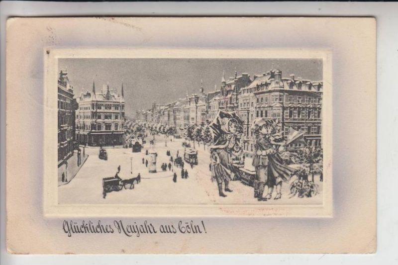 5000 KÖLN, Hohenzollernring, Winterkarte, Neujahrskarte 0