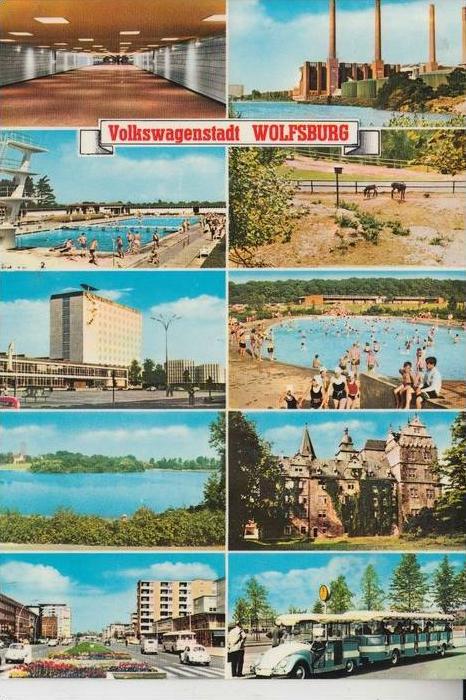 3180 WOLFSBURG, VW Volkswagenstadt Wolfsburg, Mehrbildkarte 0