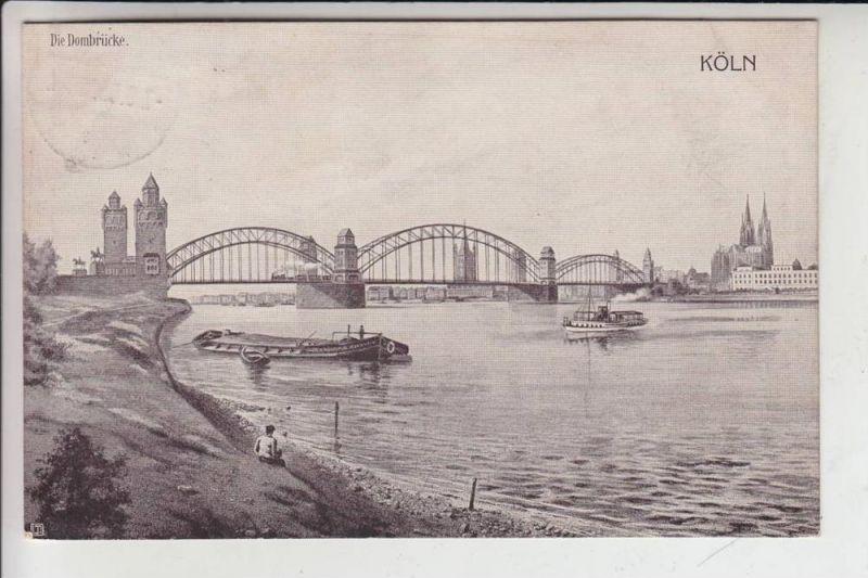 5000 KÖLN - DEUTZ, heutiger Rheinpark, Hohenzollernbrücke