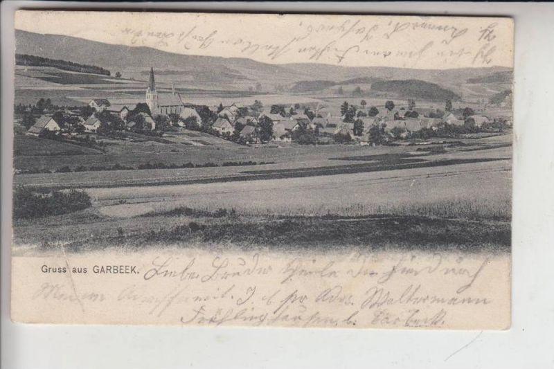 5983 BALVE - GARBECK, Ortsansicht 1904, gelaufen nach Danzig 0