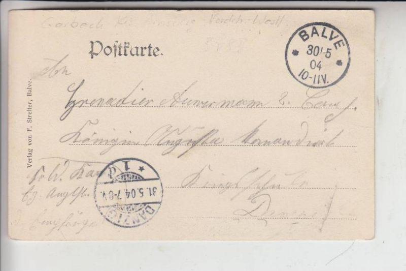 5983 BALVE - GARBECK, Ortsansicht 1904, gelaufen nach Danzig 1