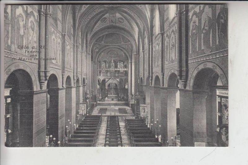 5000 KÖLN, Kirche, St.Maria im Capitol, Innenansicht 1908, Verlag. Trenkler 0