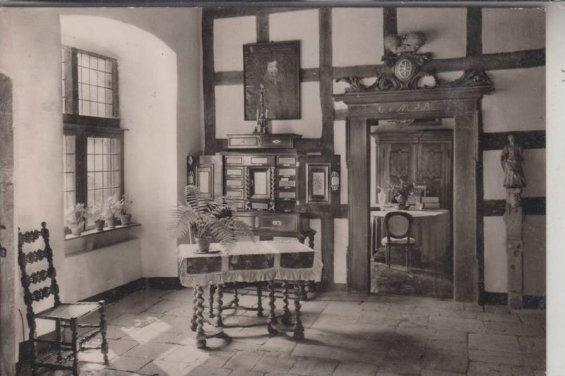 5440 MAYEN, Schloss Bürresheim, Blick vom Kurfürstensaal ins Mainzer Zimmer 1958 0