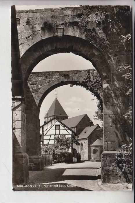 5168 NIDEGGEN, Nixtor mit kath. Kirche 1962 0