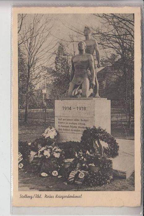 5190 STOLBERG, Neues Kriegerdenkmal, NS-Ausschmückung 0