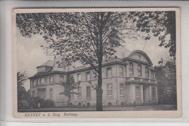 5202 HENNEF, Rathaus, aus der Zeit der Rheinlandbesetzung 0