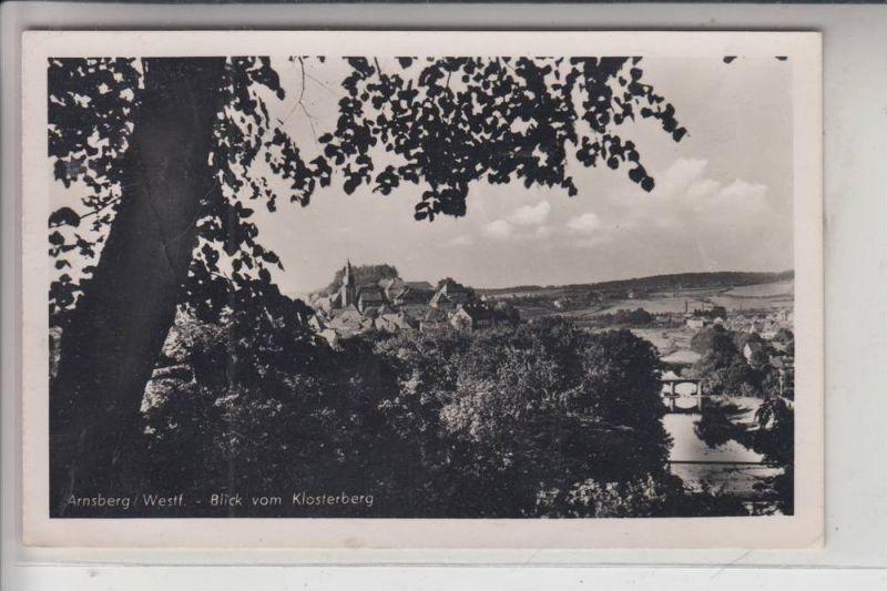 5760 ARNSBERG, Blick vom Klosterberg 1949 0