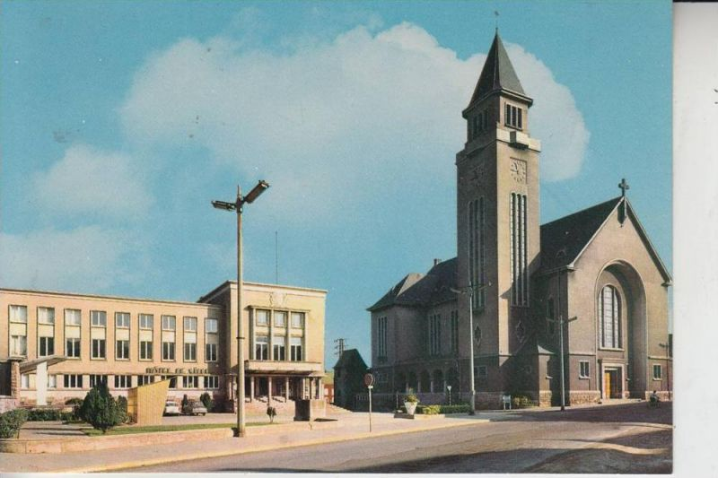 L 3800 SCHIFFLINGEN / SCHIFFLANGE, Kirche und Rathaus 0