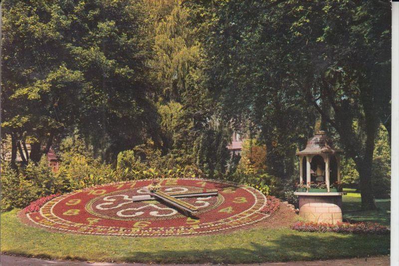 L 4500 DIFFERDINGEN / DIFFERDANGE, Blumenuhr/Horloge fleurie/Bloem klok, Parc de Gerlache 1964