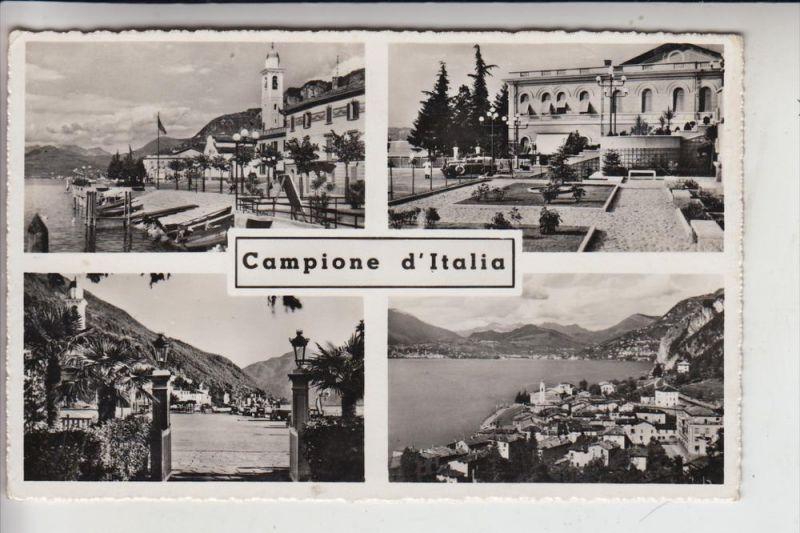 I 22060 CAMPIONE D'ITALIA, Mehrbildkarte
