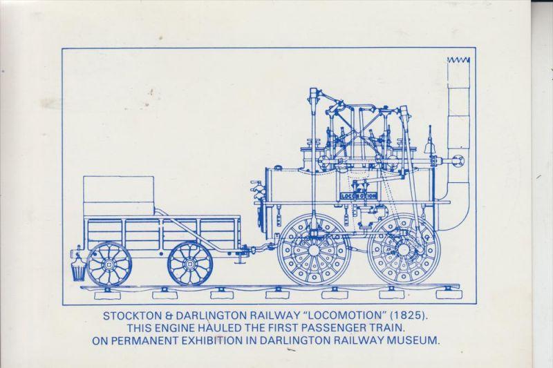 EISENBAHN, Stcokton & Darlington Railway 1825 0