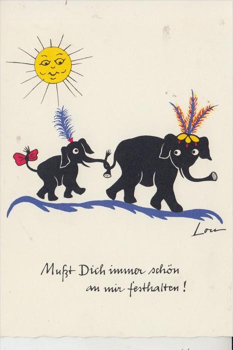 KÜNSTLER - ARTIST - LOU - Elephanten / Elefants / Olifant 0