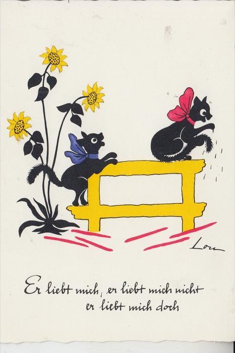 KÜNSTLER - ARTIST - LOU - Katzen / Cats / Chats / Katten / Gatti / Gatos