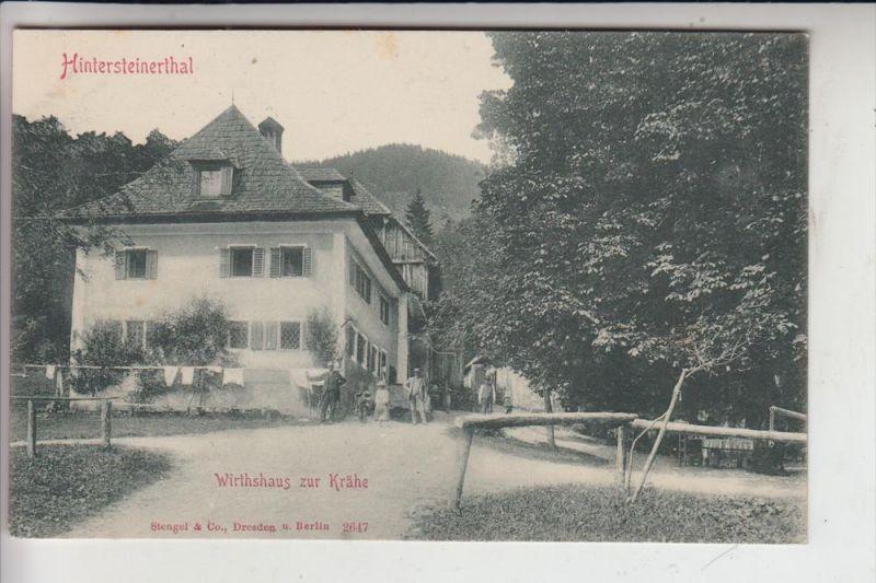 8973 HINDELANG, Wirtshaus zur Krähe, Hintersteinerthal, frühe Karte - ungeteilte Rückseite 0