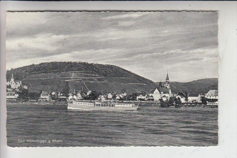 5462 BAD HÖNNINGEN, Rheinansicht mit Rheindampfer, 1957 0