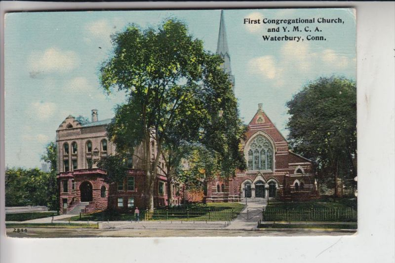 YMCA - & First Congregational Church, Waterbury, Conn.1912 0