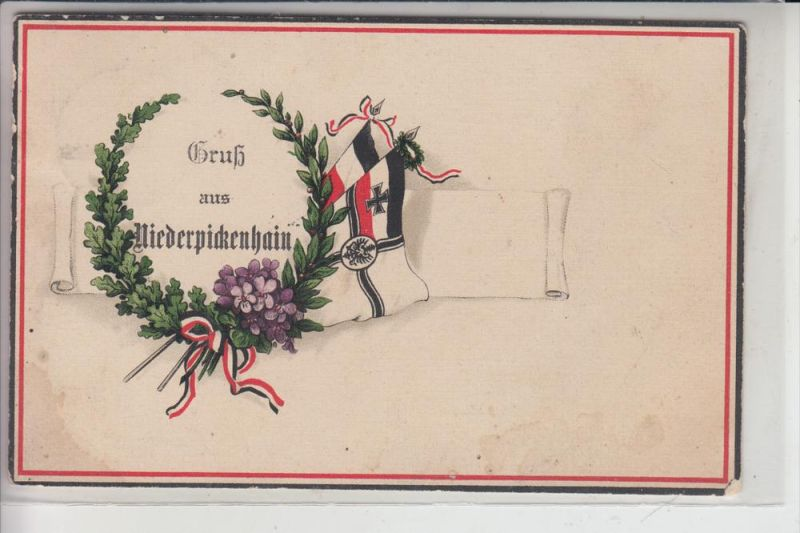 0-7231 NARSDORF - NIEDERPICKENHAIN, Patriotica-Karte 1915 0