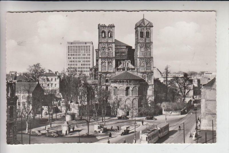 5000 KÖLN, Gereonskirche & Umgebung mit noch sichtbaren Kriegsschäden , Strassenbahn-Tram 0
