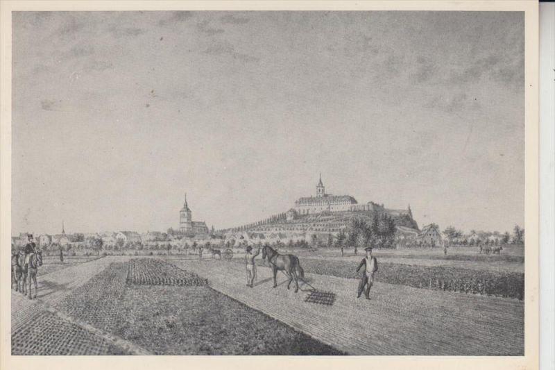 5200 SIEGBURG, Historische Ansicht von Südwesten, nach Kupferstich v. B.Hundeshagen 0