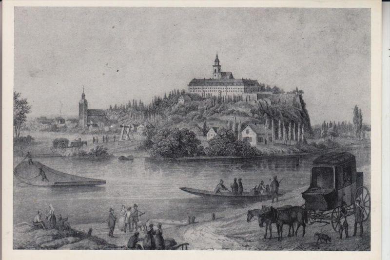 5200 SIEGBURG, Historische Ansicht von Südwesten, nach A.Wirtzfeld 1860