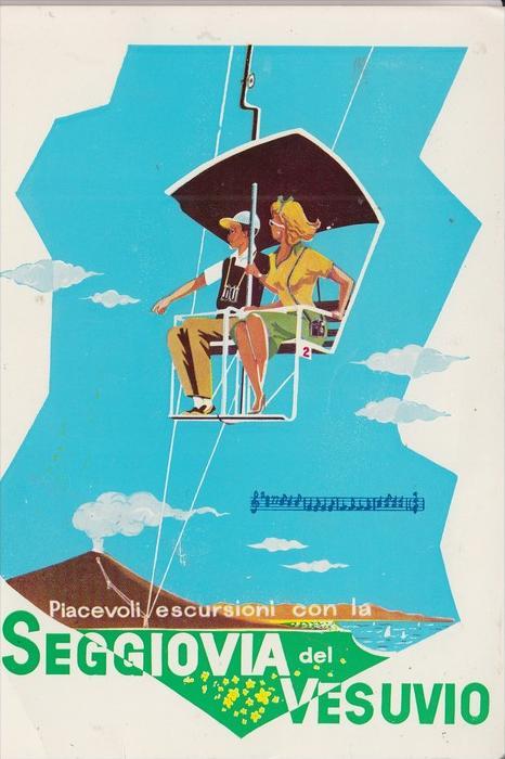 I 80100 NAPOLI / NEAPEL, Seggiovia Vesuvio, Chair-Lift, Sesselbahn, Telesiege