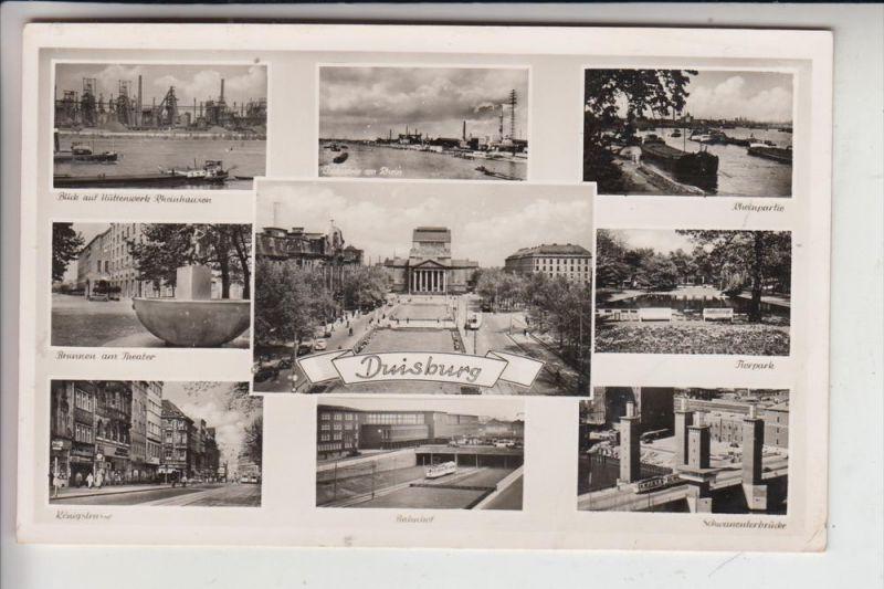 4100 DUISBURG, Mehrbildkarte1954 0