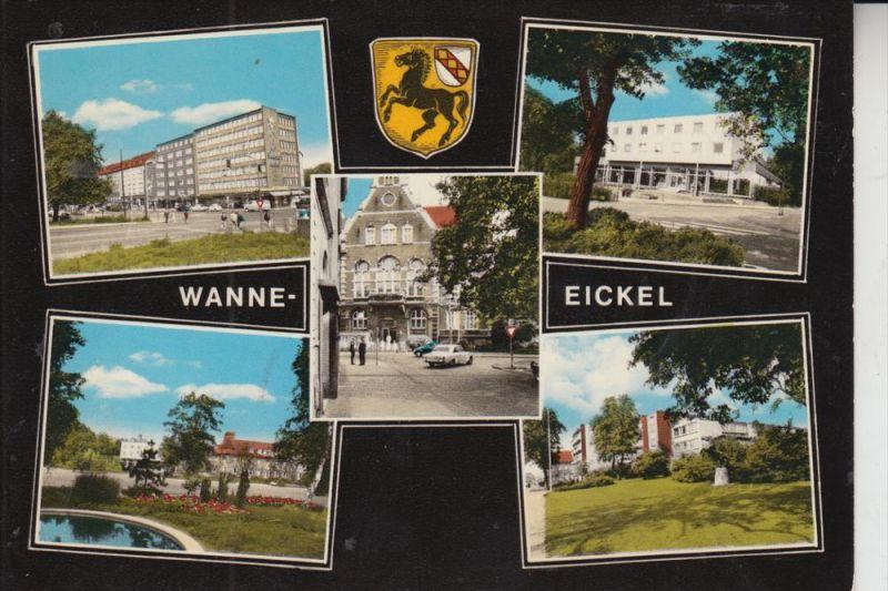 4690 HERNE - WANNE-EICKEL, Mehrbildkarte, handcoloriert 0