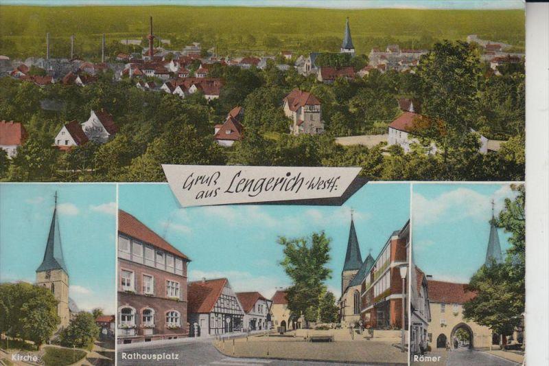 4540 LENGERICH, Mehrbildkarte, handcoloriert, 1966 0
