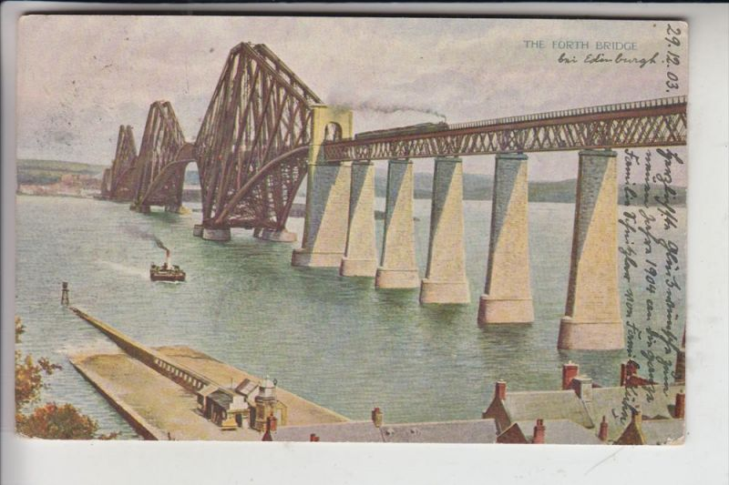 UK - SCOTLAND - MIDLOTHIAN - EDINBURGH, Forth Bridge, artist card