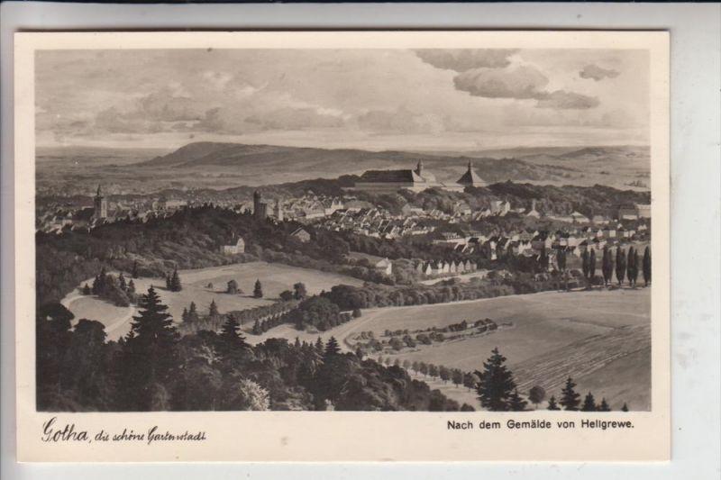 0-5800 GOTHA, Künstler-Karte nach einem Gemälde v. Hellgrewe 1940 0