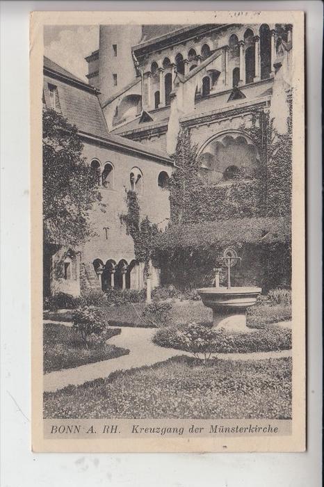 5300 BONN, Kreuzgang der Münsterkirche 1929 0