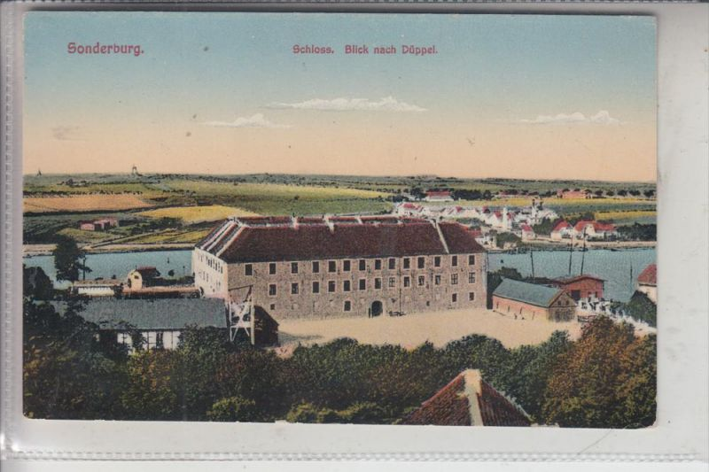 DK 6400 SONDERBURG, Schloss, Blick nach Düppel, ca.1905