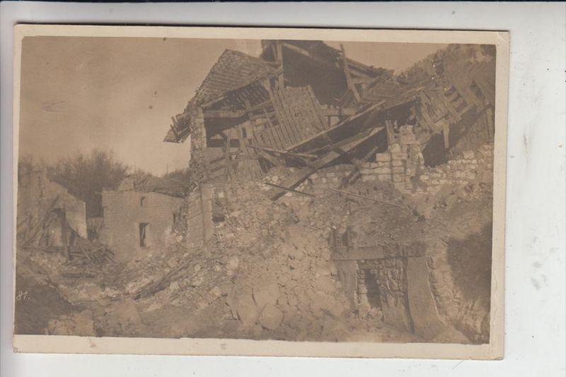 F 51220 BRIMONT, Zerstörungen 1.Weltkrieg, Photo-AK, 12.Juli 1917 0