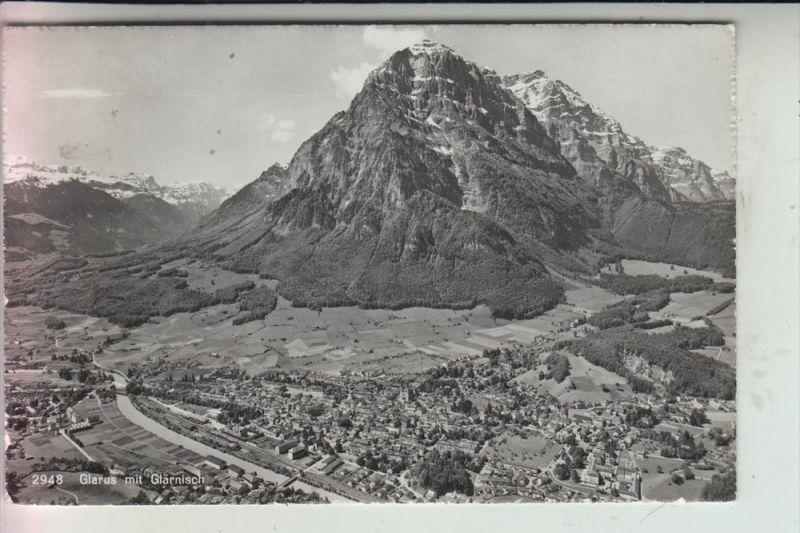 CH 8750 GLARUS, Ortsansicht 1958, Bahnpost/Ambulant 10.IV.58 3884 TPO