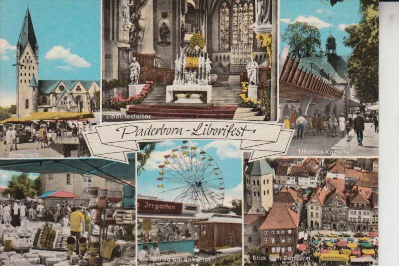 4790 PADERBORN, Liborifest, Mehrbildkarte, handcoloriert