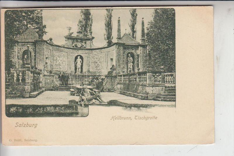 A 5000 SALZBURG, Hellbrunn, Tischgrotte, frühe Karte-ungeteilte Rückseite
