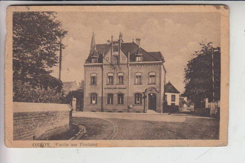 4134 RHEINBERG - ORSOY, Partie am Postamt zur Zeit der Rheinlandbesetzung