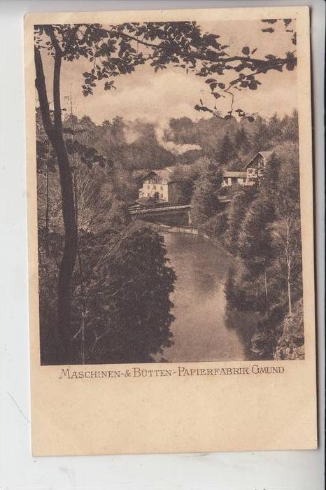 8184 GMUND am Tegernsee, Maschinen- und Bütten-Papierfabrik