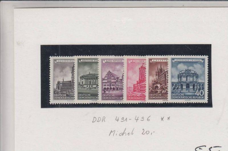 DDR 491 - 496 ** Wiederhergestellte historische Bauwerke