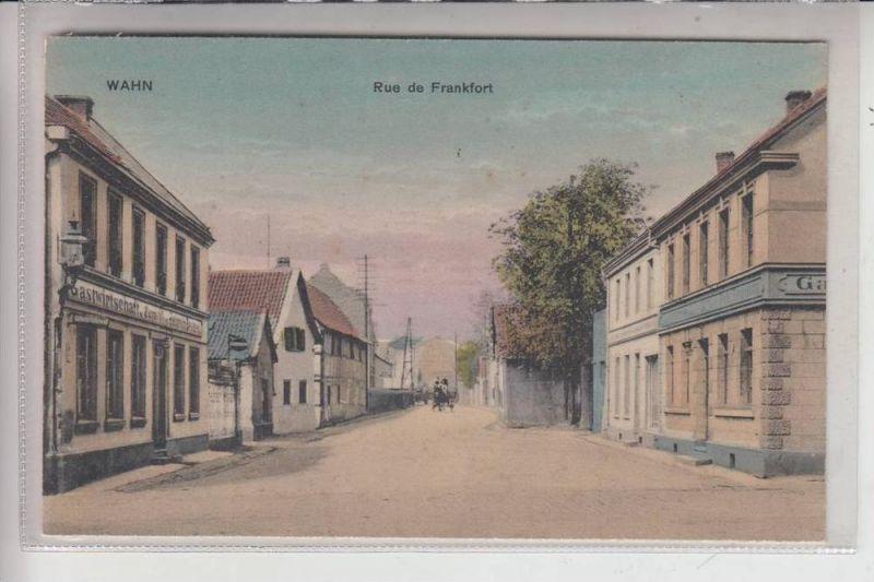 5000 KÖLN - PORZ - WAHN, Frankfurter Strasse / Rue de Frankfort, Zeit der Rheinlandbesetzung