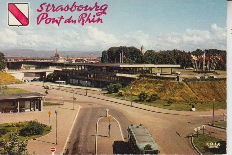 GRENZE - FRONTIER, Grenzstation Strasbourg an der Europabrücke nach Kehl