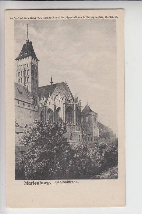 WESTPREUSSEN - MARIENBURG, Schlosskirche