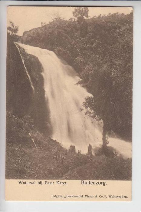 INDONESIEN - BUITENZORG / BOGOR, Waterval bij Pasir Karet