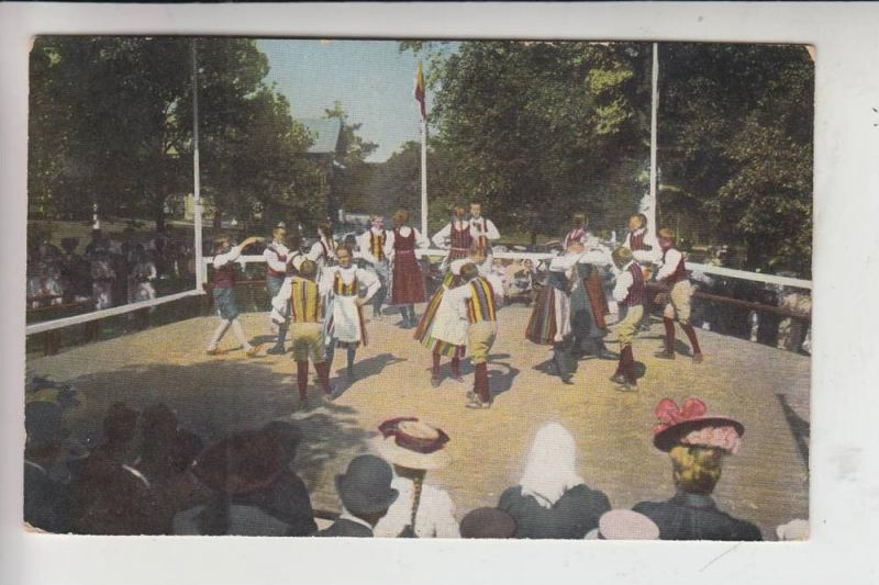 SF SUOMI FINLAND, Suomalaisla Kansantanssia / Finske Folkdanser 1913 - COLOR - Knackstedt & Näther