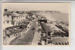 UK - ENGLAND - ISLE OF WIGHT, SANDOWN, Culver Road and Beach 1959