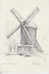 MÜHLE - Molen - mill, Windmühle Dornum Bockmühle, Künstler-Karte