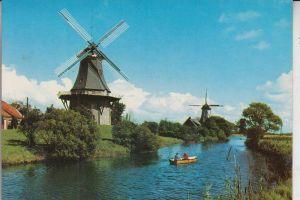 MÜHLE - Molen - mill, Windmühle Greetsiel, Zwillingsmühlen am Kanal